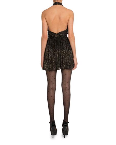 b30951d3d Saint Laurent Golden Shimmer Halter Dress