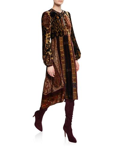Neo Nomad Velvet Henley Dress
