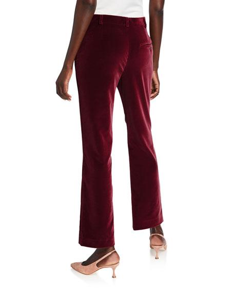 Stretch Velvet Ankle Trousers