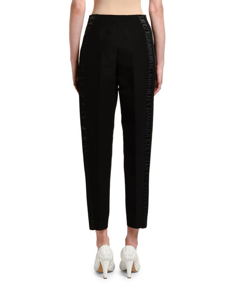 Pleated Front Scuba Pants