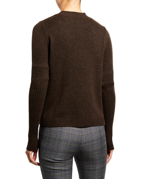 Matteo Wool-Cashmere Sweater, Brown