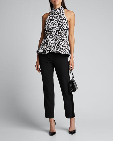 Cheetah-Print Drawstring-Waist Top