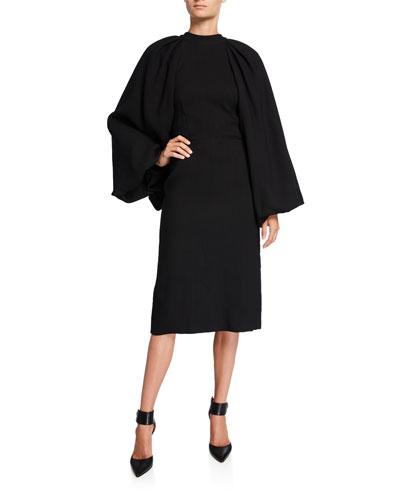 Sable Puff-Sleeve Dress