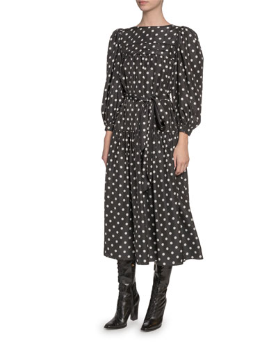 06be8d585 Silk Peasant-Sleeve Dress Quick Look. Marc Jacobs