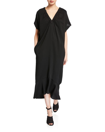 Lua Eco Draped Dress