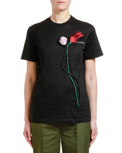 3D Flower T-Shirt
