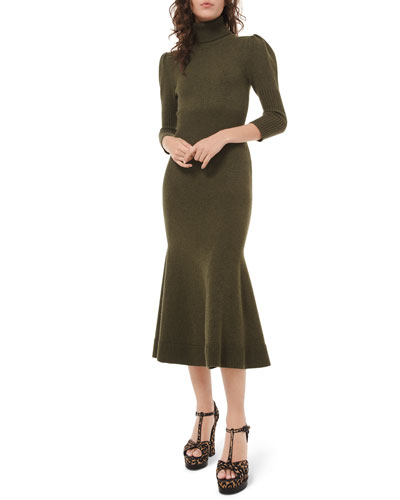 5071cb679b454c Cashmere Puff-Sleeve Midi Dress Quick Look. Michael Kors Collection