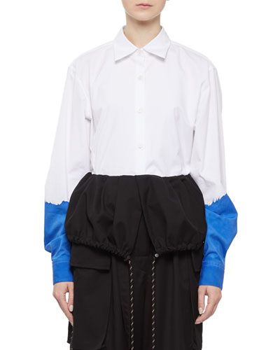 Clavelly Hand-Paint Cotton Shirt