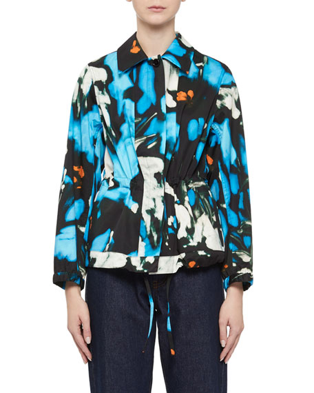 Abstract Cinched-Waist Jacket
