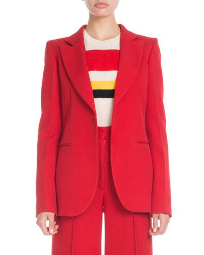 Peak-Lapel Wool Jacket