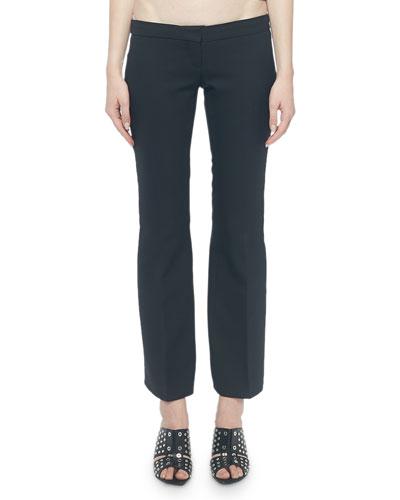 Flat Front Lace-Up Kickback Pants