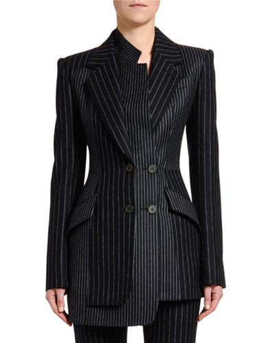 Deconstructed Pinstriped Blazer