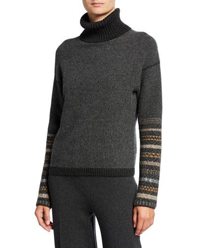 Cashmere Fair Isle Turtleneck Sweater