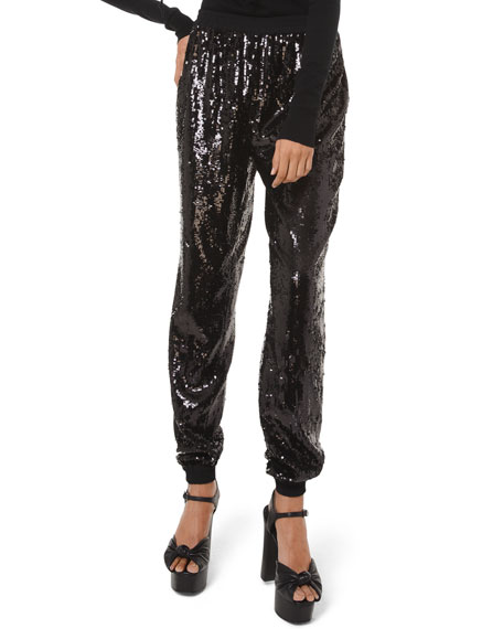 Sequined Jogger Pants