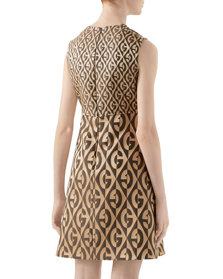 G Rhombus Jacquard Wool Dress