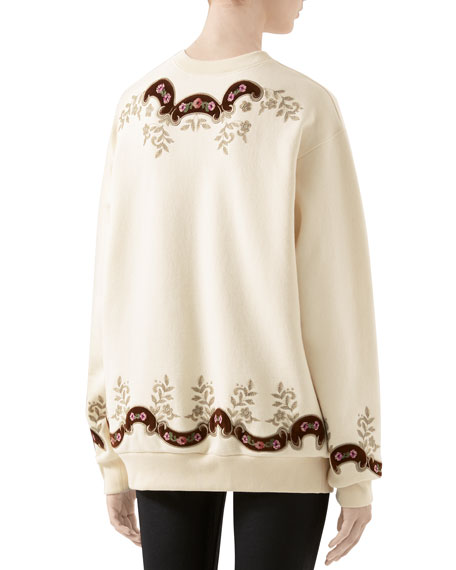 Oversized Tapestry-Embroidered Sweatshirt