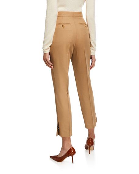 Button-Seam Cuff Trousers