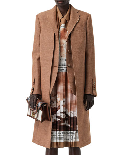 Wool Overcoat with Attached Vest