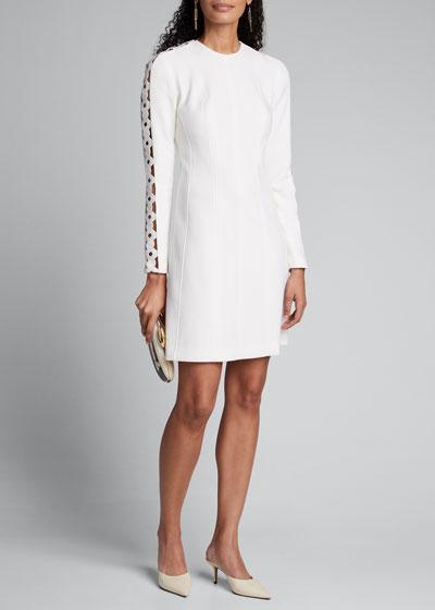 Wave-Trim Tunic Dress