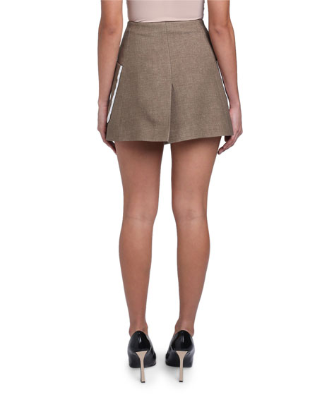 Oversized-Pocket Mini Skirt