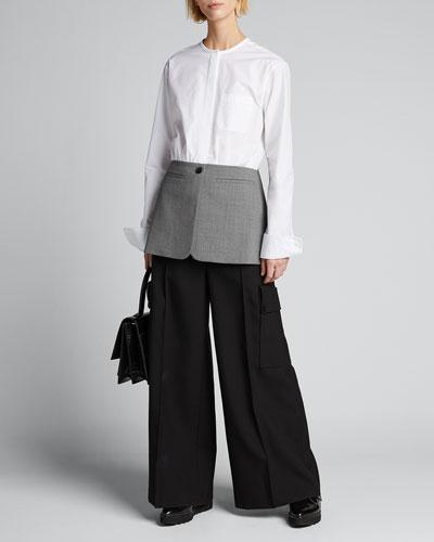 Hybrid Poplin & Twill Shirt Jacket