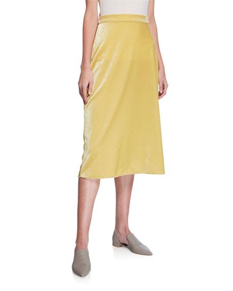 Velvet Bias Slip Skirt