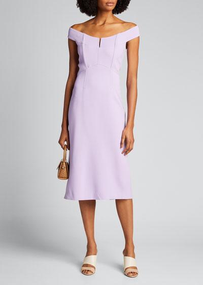 Off-the-Shoulder Bustier Pencil Dress