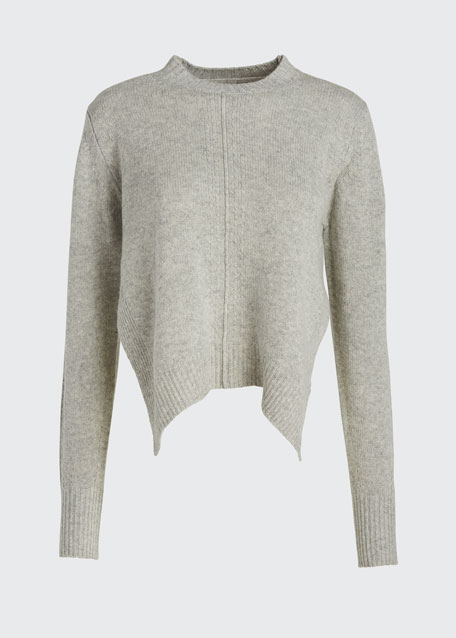 Cashmere Long-Sleeve Crewneck Sweater