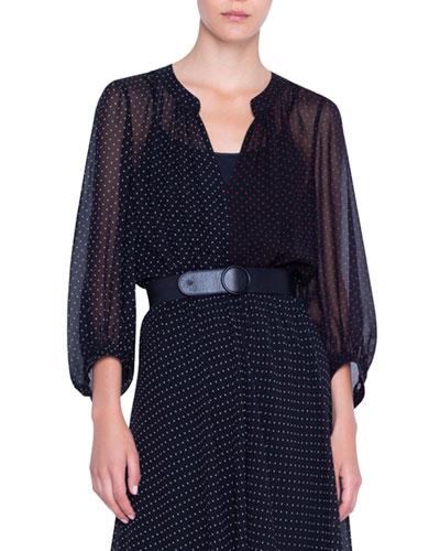 Silk Crepe Patchwork Dress
