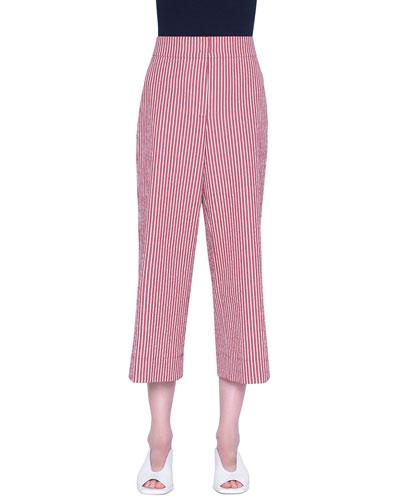 Striped Seersucker Culottes