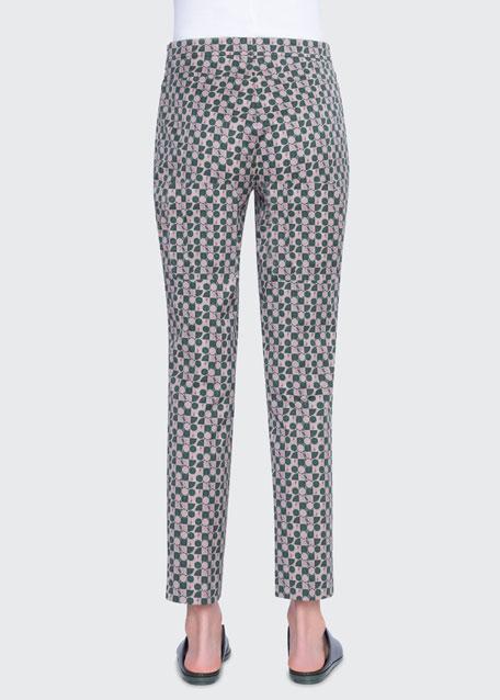 Franca Circlefield Stretch Cotton Ankle  Pants