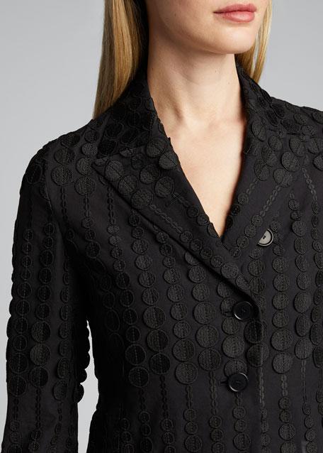 Superpose Degrade-Dotted Bolero Jacket