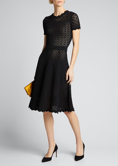 Short-Sleeve Fit & Flare Dress