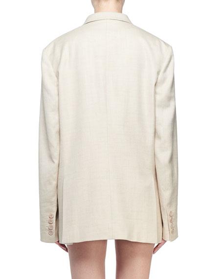 Linen Boyfriend Blazer Jacket