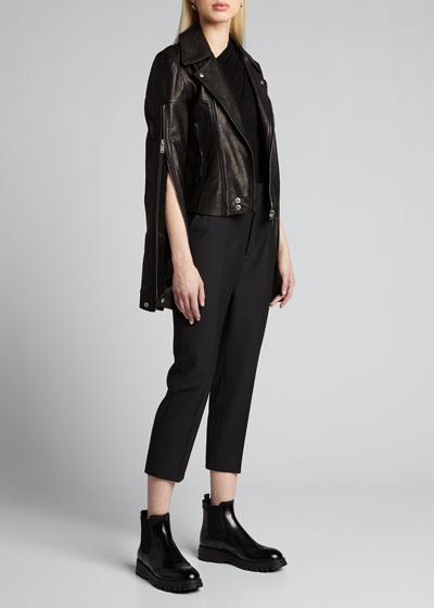 Astair Crepe Cropped Pants
