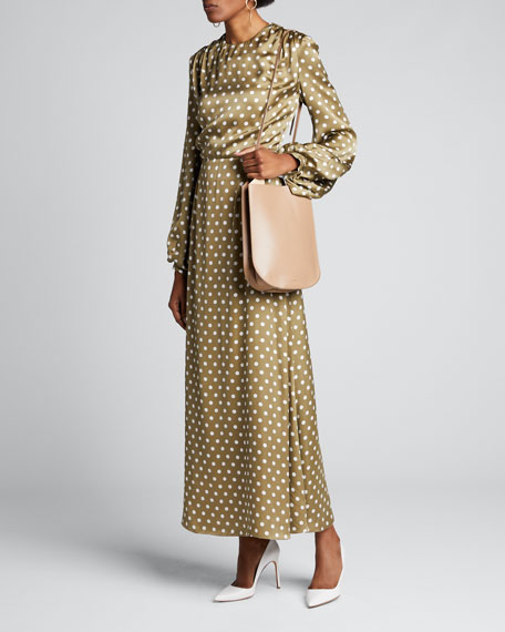 Polka-Dotted Open Back Dress