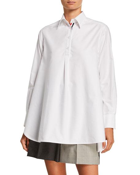 Circlular Tunic Oxford Shirt