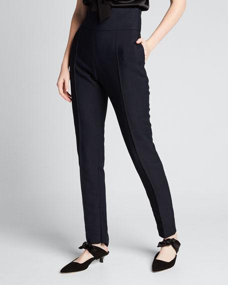 High-Rise Straight-Leg Trousers