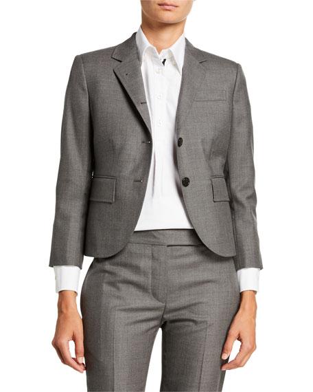 Cropped Super Wool-Twill Blazer Jacket