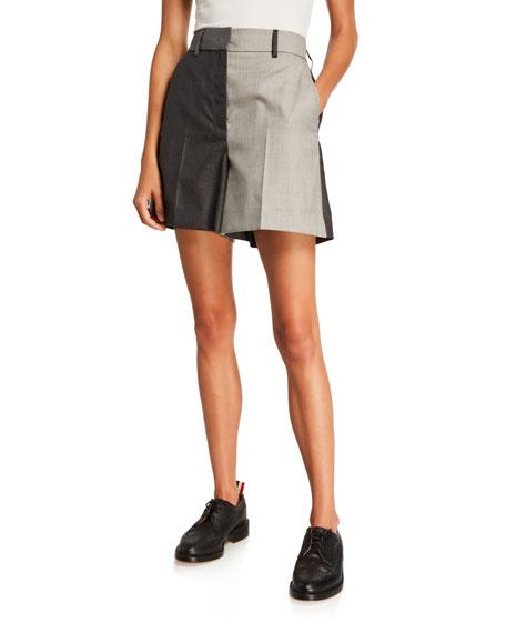 Wool-Twill High-Rise Sack Shorts
