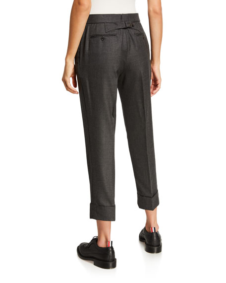 Classic Backstrap Cropped Trousers