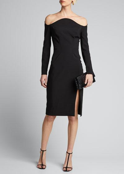 Off-the-Shoulder Cocktail Dress