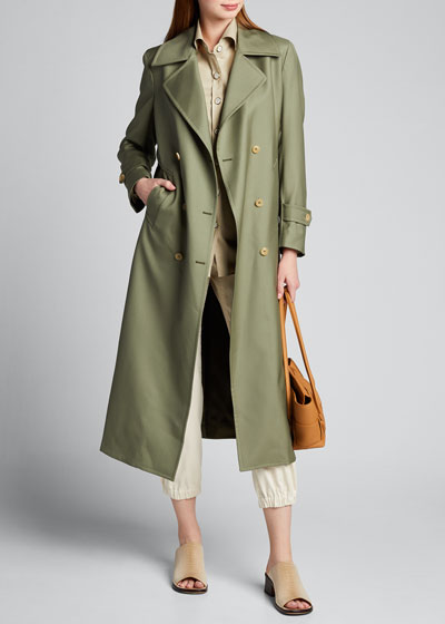 Tailored Double-Breasted Trench Coat
