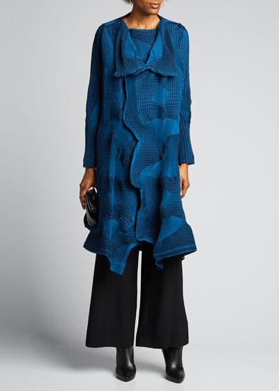 Dots Stretch Long Jacket