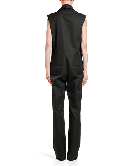 Sleeveless Cotton Utility Jumpsuit
