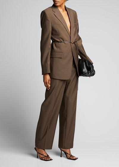 Lightweight Wool Wide-Leg  Pants