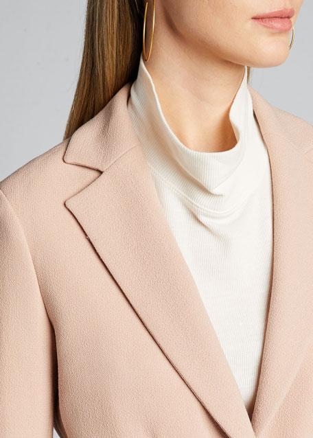 Crepe One-Button Blazer