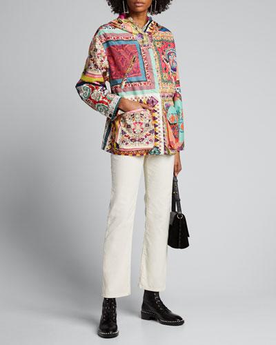 Mosaic Patchwork Lightweight Quilted Jacket
