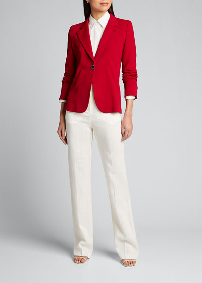 Crepe Jersey Blazer Jacket