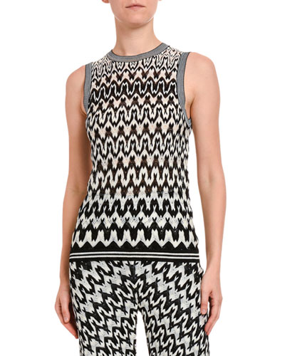 Zigzag Knit Tank Top
